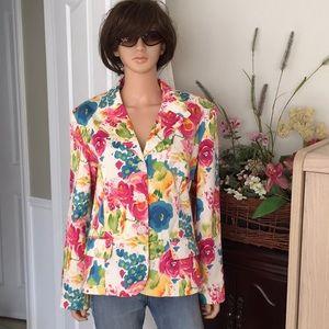 SagHarbor floral blazer